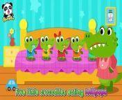 BabyBus - Nursery Rhymes ► https://www.youtube.com/channel/UCpYye8D5fFMUPf9nSfgd4bA?sub_confirmation=1<br/>BabyBus   Animal Songs & Stories   Learn Animals for Kids:https://www.youtube.com/playlist?list=PLPA49Pz3BAxNjAQdzTwKYD1aqbdmozjya<br/><br/><br/><br/>Five little crocodiles like lollipops   Farm Animals   Nursery Rhymes   Kids Songs   Kids Cartoon   BabyBus<br/>Lyrics:<br/>Little Crocs OK, Mom!<br/>Croc. 1Wow! Lollipops!<br/>Croc. 2They look so delicious!<br/>Croc. 3Then let's eat!<br/>Little Crocs Good!<br/><br/>KIKIFive little crocodiles eating lollipops,<br/>one of them has a bad toothache.<br/>Momma calls the doctor and the doctor says,<br/>DentistBrush your teeth before you sleep.<br/>KIKIFour little crocodiles eating lollipops,<br/>one of them has a bad toothache.<br/>Momma calls the doctor and the doctor says,<br/>DentistBrush your teeth before you sleep.<br/>KIKIThree little crocodiles eating lollipops,<br/>one of them has a bad toothache.<br/>Momma calls the doctor and the doctor says,<br/><br/>Dentist(narration) brush your teeth before you sleep.<br/>KIKI/MIUMIU Two little crocodiles eating lollipops,<br/>one of them has a bad toothache.<br/>Momma calls the doctor and the doctor says,<br/><br/>Dentist(narration) brush your teeth before you sleep.<br/>KIKI/MIUMIU One little crocodile eating a lollipop,<br/>And he has a bad toothache.<br/>Momma calls the doctor and the doctor says,<br/><br/>Dentist(narration) brush your teeth before you sleep.<br/><br/>KIKI/MIUMIU Kids, don't forget to brush your teeth before going to bed!<br/><br/>Nursery rhymes in English, canciones en inglés para niños, Comptines en anglais, Lagu-lagu anak berbahasa Inggeris, Musik Untuk Anak, barnvisorna på engelska, Músicas em inglês para crianças, Gyerekzene, Kinderlieder in Englisch, 英文兒歌, Písničky v angličtině, أناشيد أطفال باللغة الإنجليزية, अंग्रेजी में नर्सरी कविताएं, Barnerim på engelsk, Canzoni per bambini in inglese, Engelse kinderliedjes, Piosenki dla dzieci po angielsku,