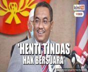 Angkatan Muda Keadilan menggesa Menteri Besar Kedah Muhammad Sanusi Md Nor dan pihak polis supaya menghentikan segera tindakan yang menindas kebebasan bersuara rakyat.<br/><br/>Gesaan itu dibuat selepas empat individu ditahan atas dakwaan menghina Sanusi, susulan kenyataannya berhubung kontena jenazah Covid-19 di Kedah.