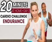 In the second edition of our six-part cardio challenge, fitness instructors Astrid Swan and Ridge Davis walk you through butt kickers, army crawl planks, triceps dips, crab walks and more—all movements you can do using just your bodyweight. This workout is designed to get your heart pumping and help step up your endurance. So grab a mat, a bottle of water, and get ready to challenge yourself!