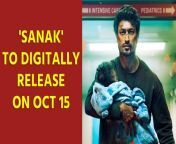 Vidyut Jammwal-starrer 'Sanak - Hope Under Siege' is set to release on October 15 on Disney+ Hotstar. The film also stars Bengali actress Rukmini Maitra, Neha Dhupia and Chandan Roy Sanyal among others. <br/><br/>#VidyutJammwal#Sanak